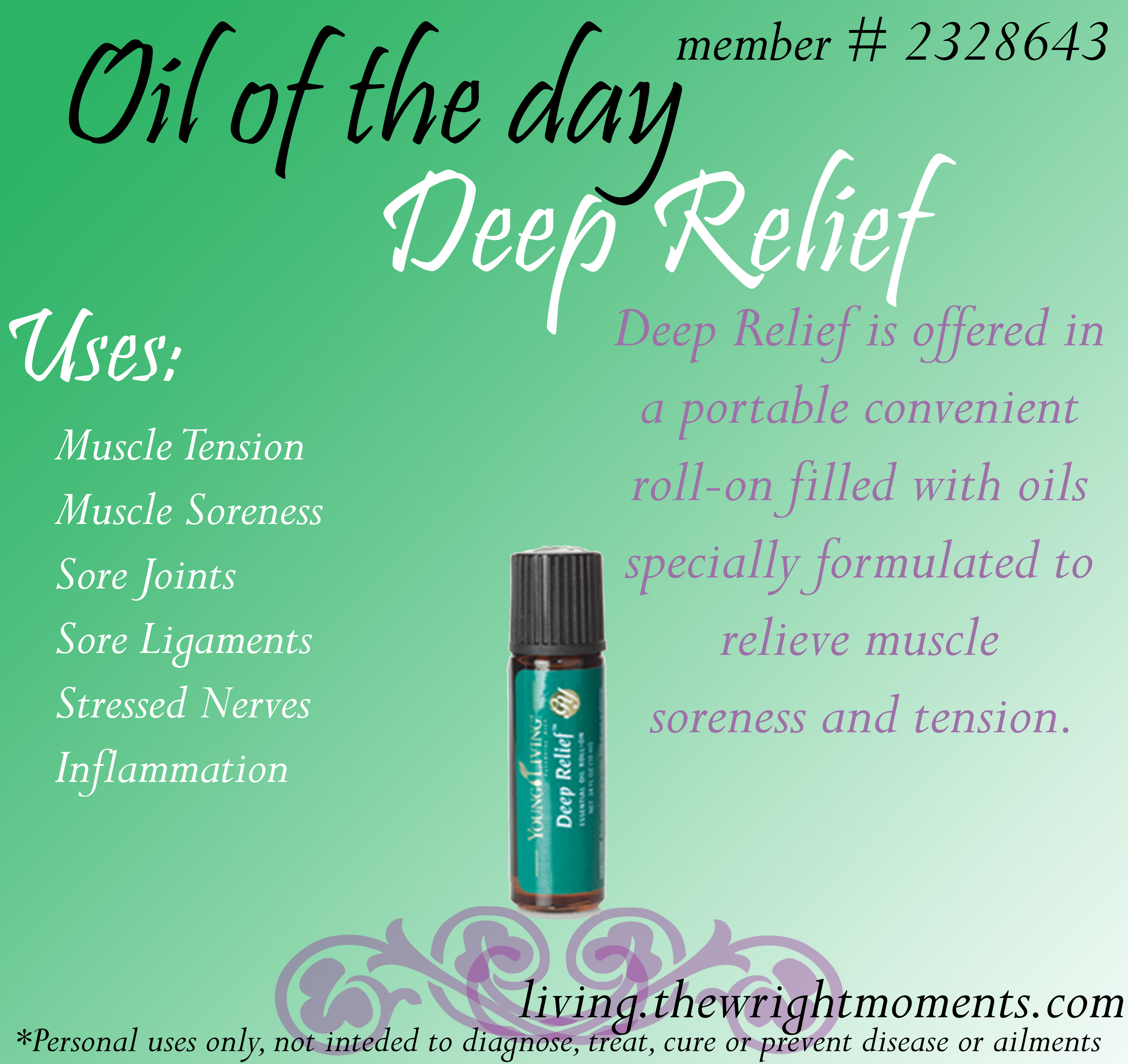 oil of the day - deep relief