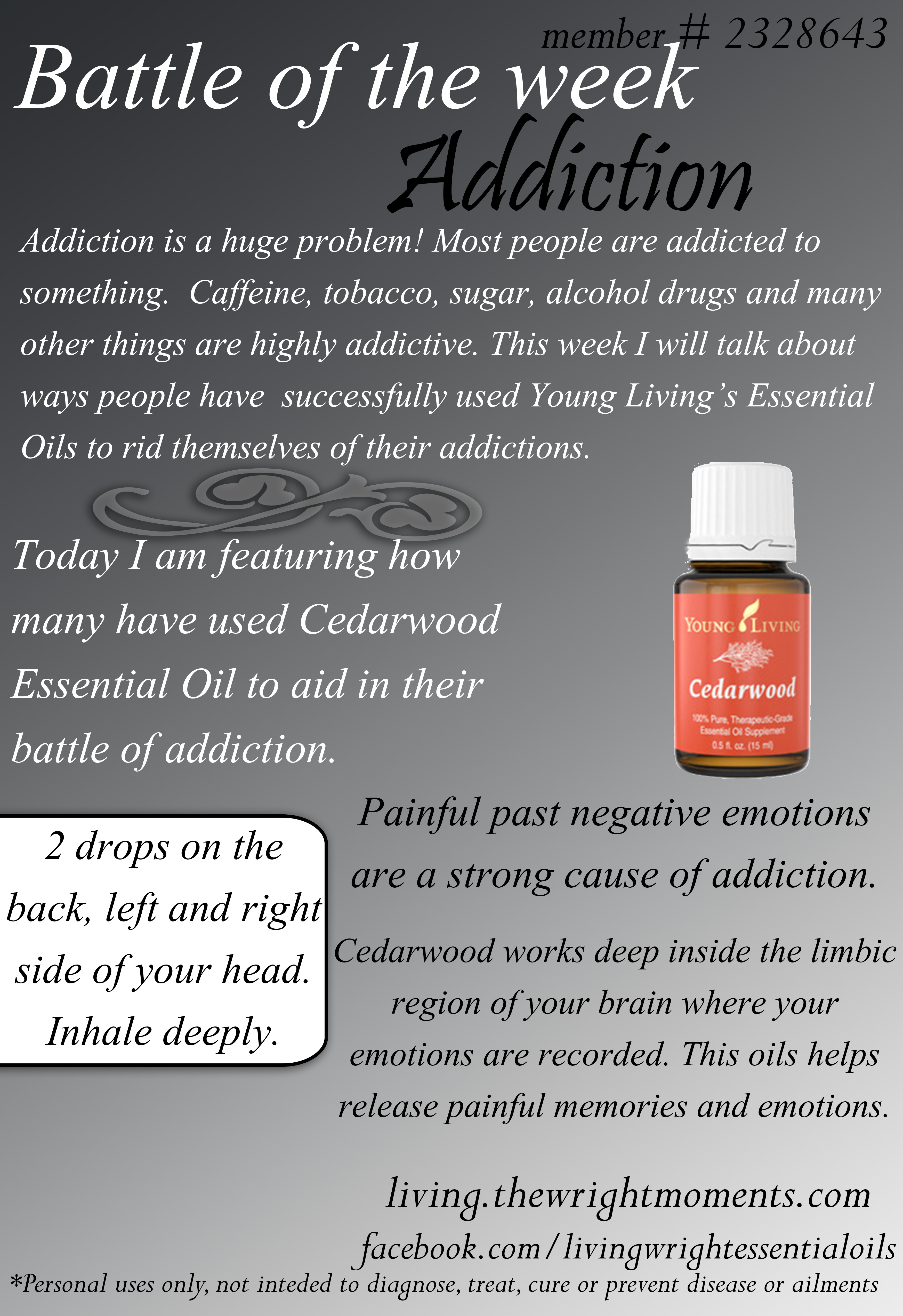 essential oils for addiction