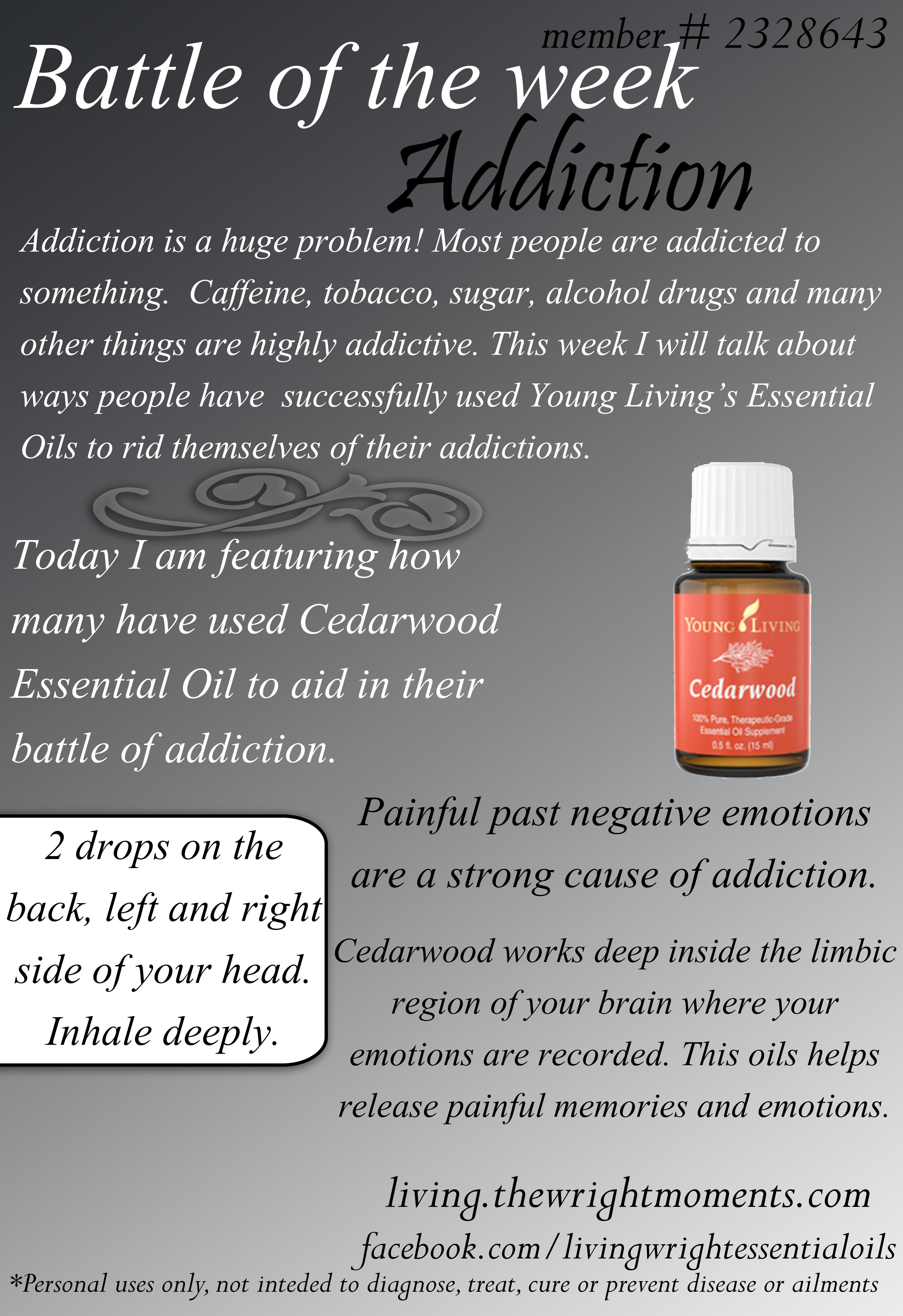 essential oils for addiction