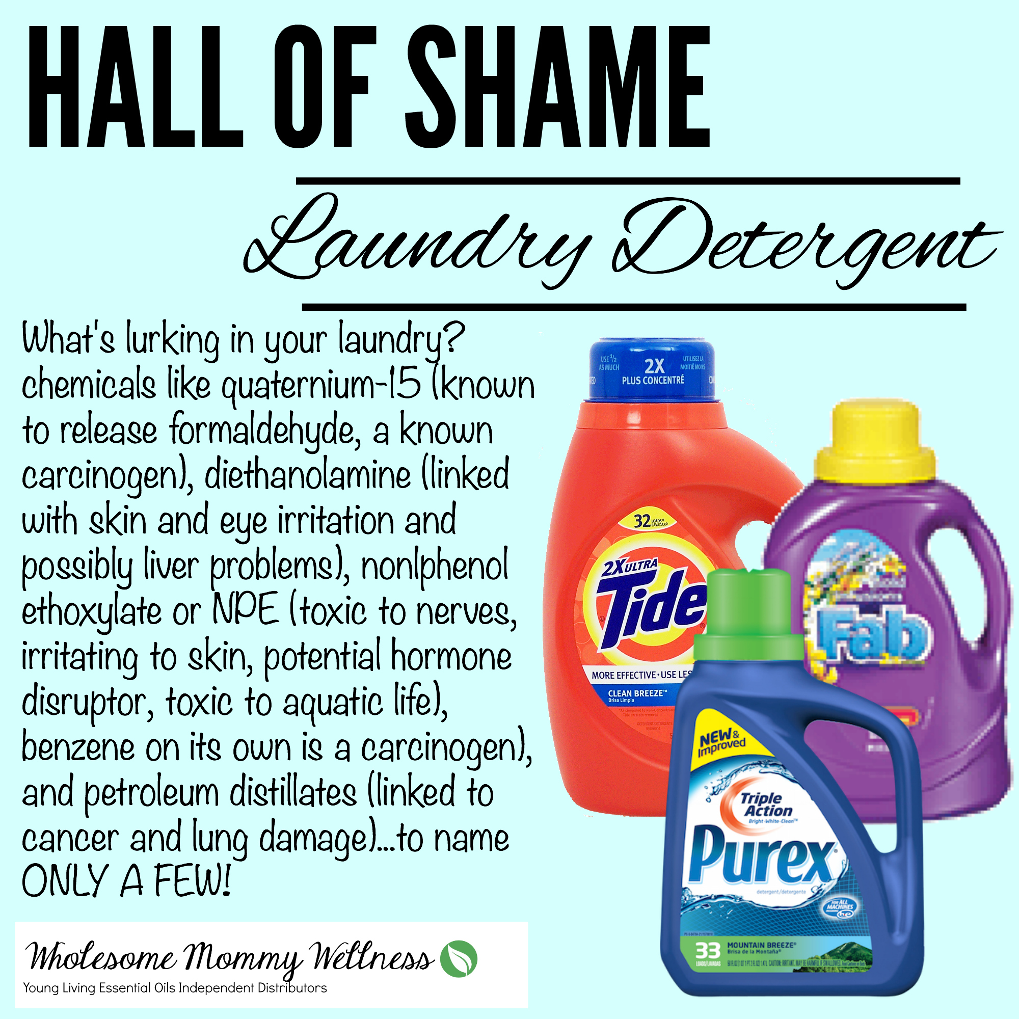 toxic dangers in laundry detergent