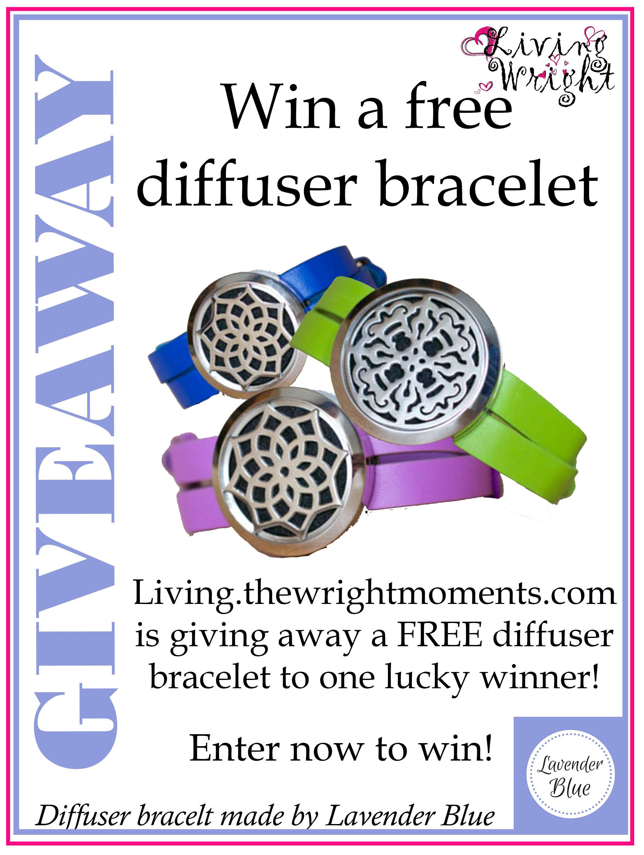 diffuser bracelet giveaway