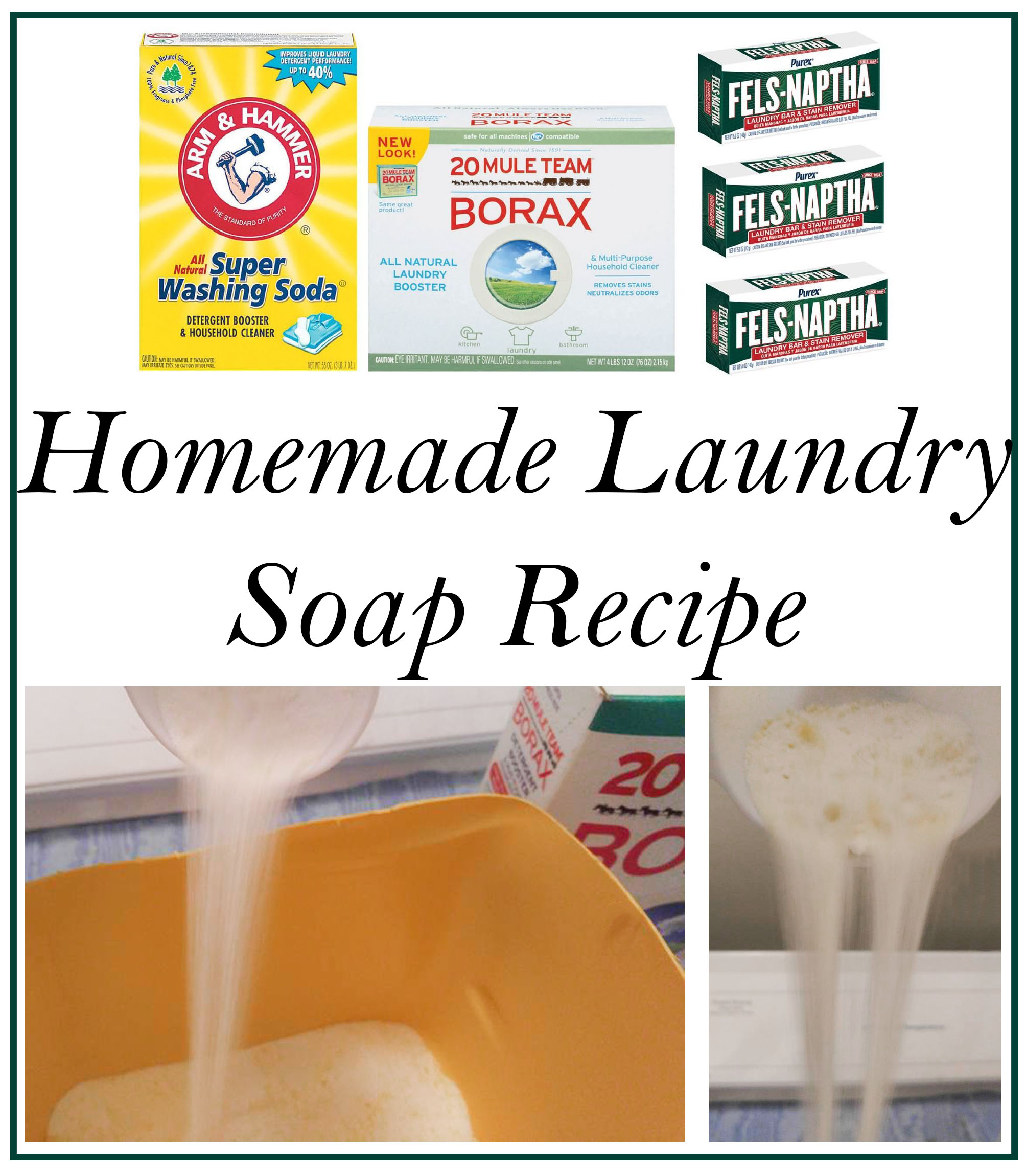 Homemade Laundry Soap