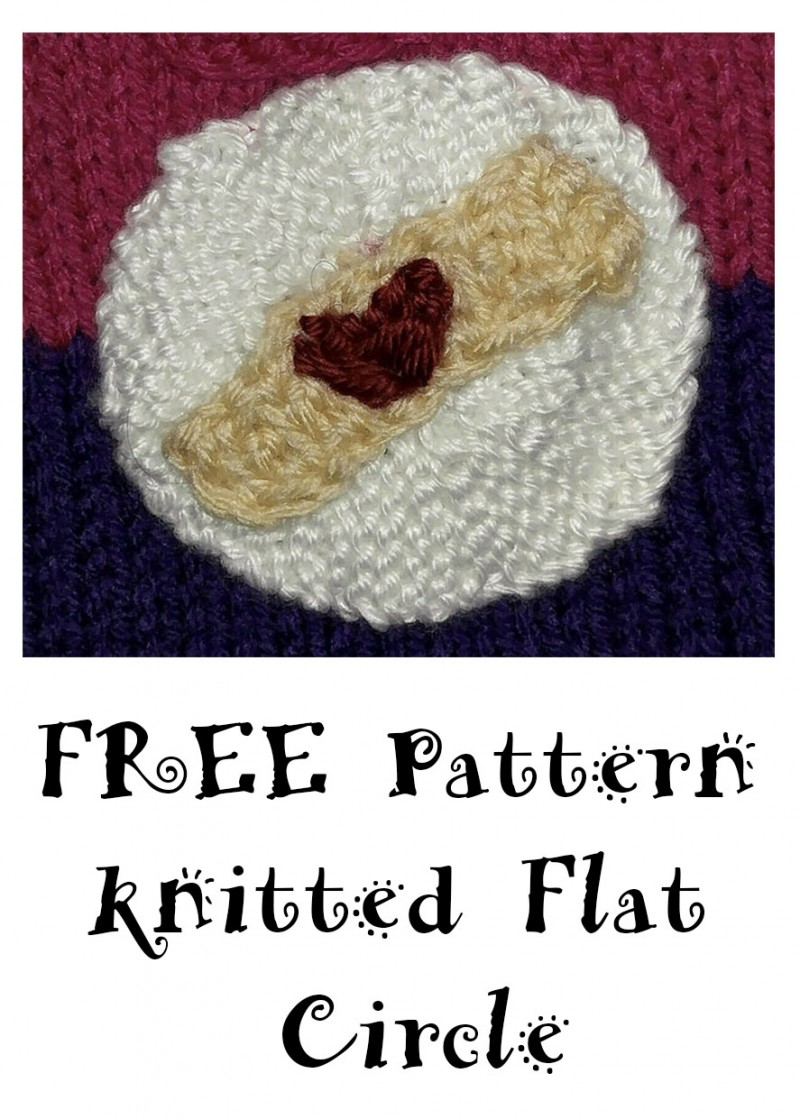 Circle Knitting Pattern : How To Knit A Flat Circle - Knitted Flat Circle Pattern