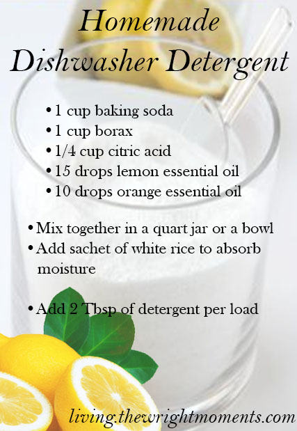 Chemical Free homemade dish detergent