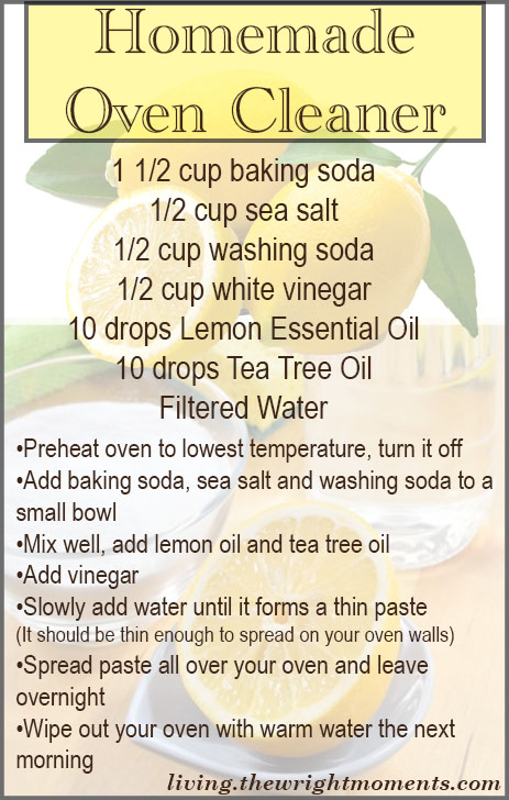 homemade oven cleaner recipe