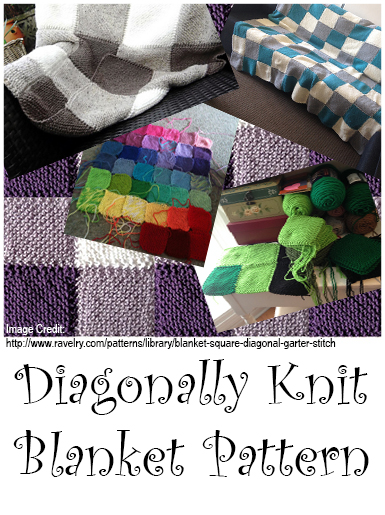 diagonally knit blanket