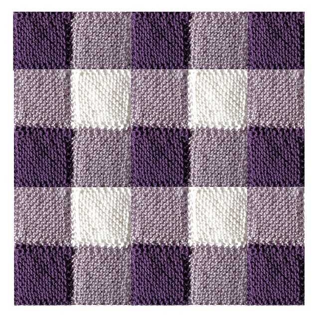 Diagonally Knit Blanket Squares