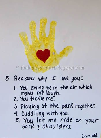 5 reasons I love dad fathers day craft