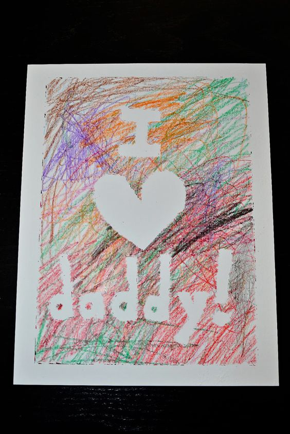 i love daddy fathers day craft