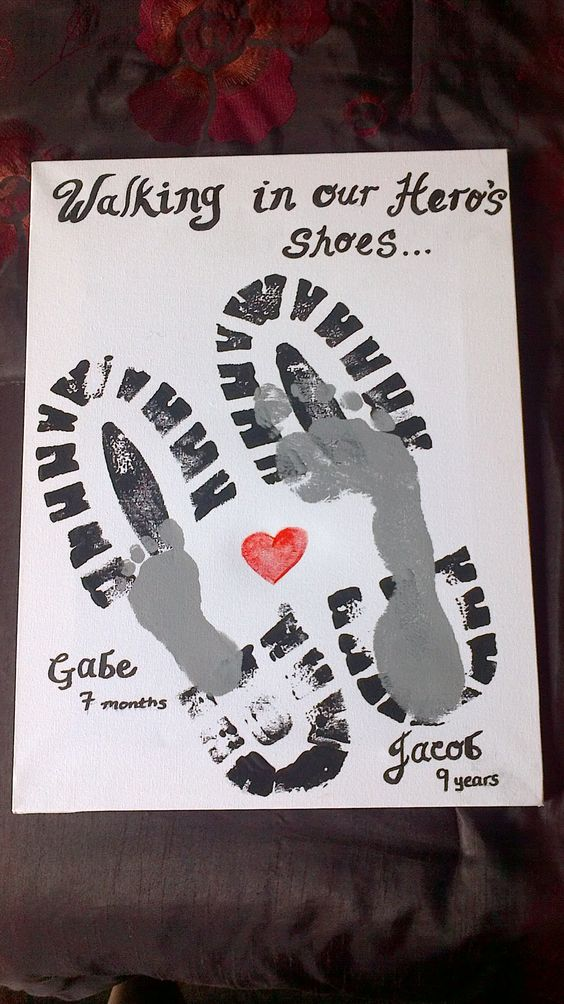 walking in his shoes fathers day craft
