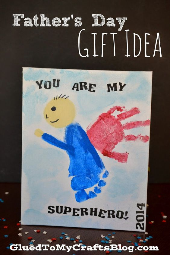 you are my superhero fathers day craft