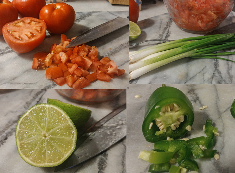 vegetables for crunchy taco wrap